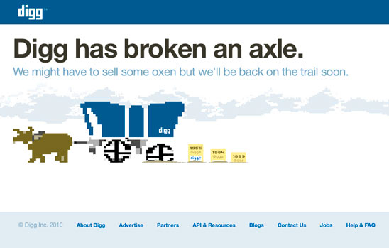 Digg Has Broken an Axle