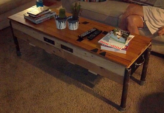 DIY Industrial Chic Coffee Table
