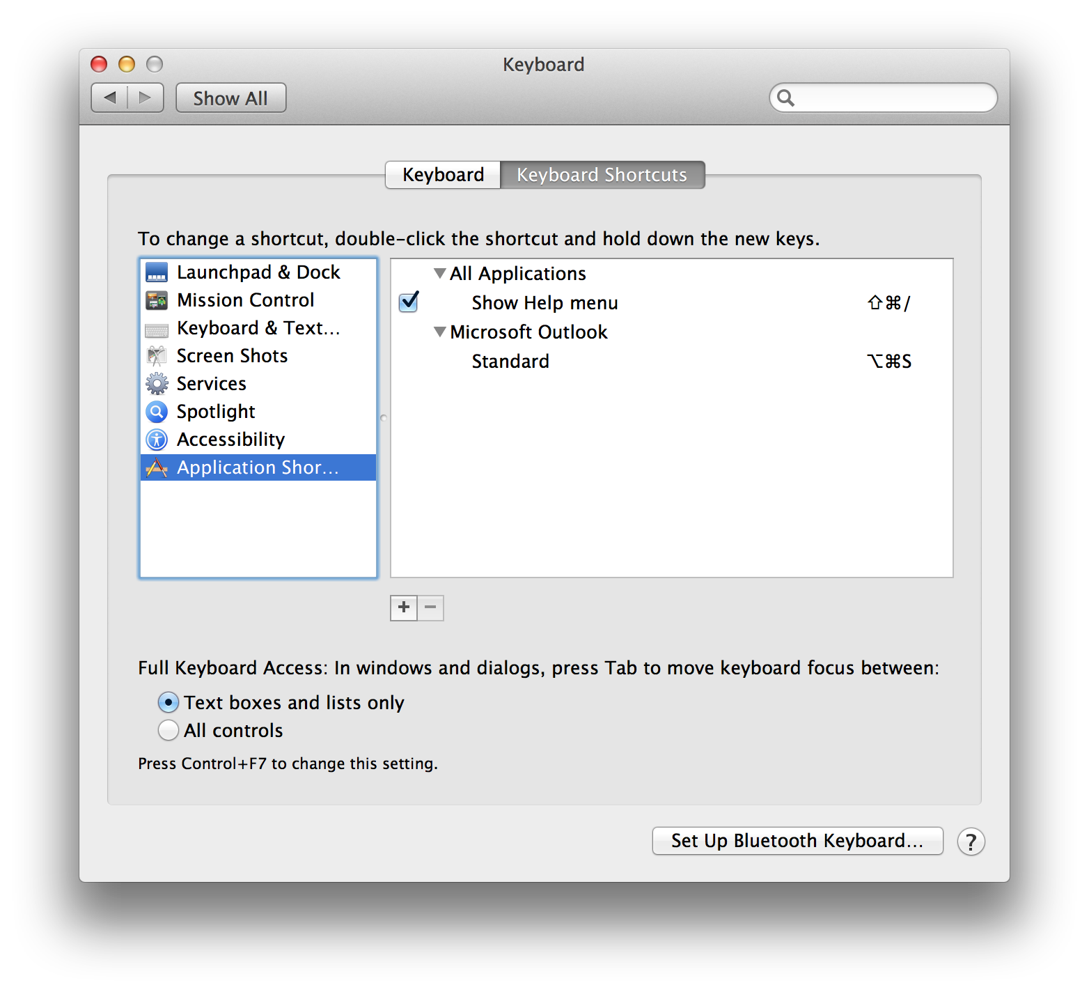 System preferences keyboard shortcuts mac